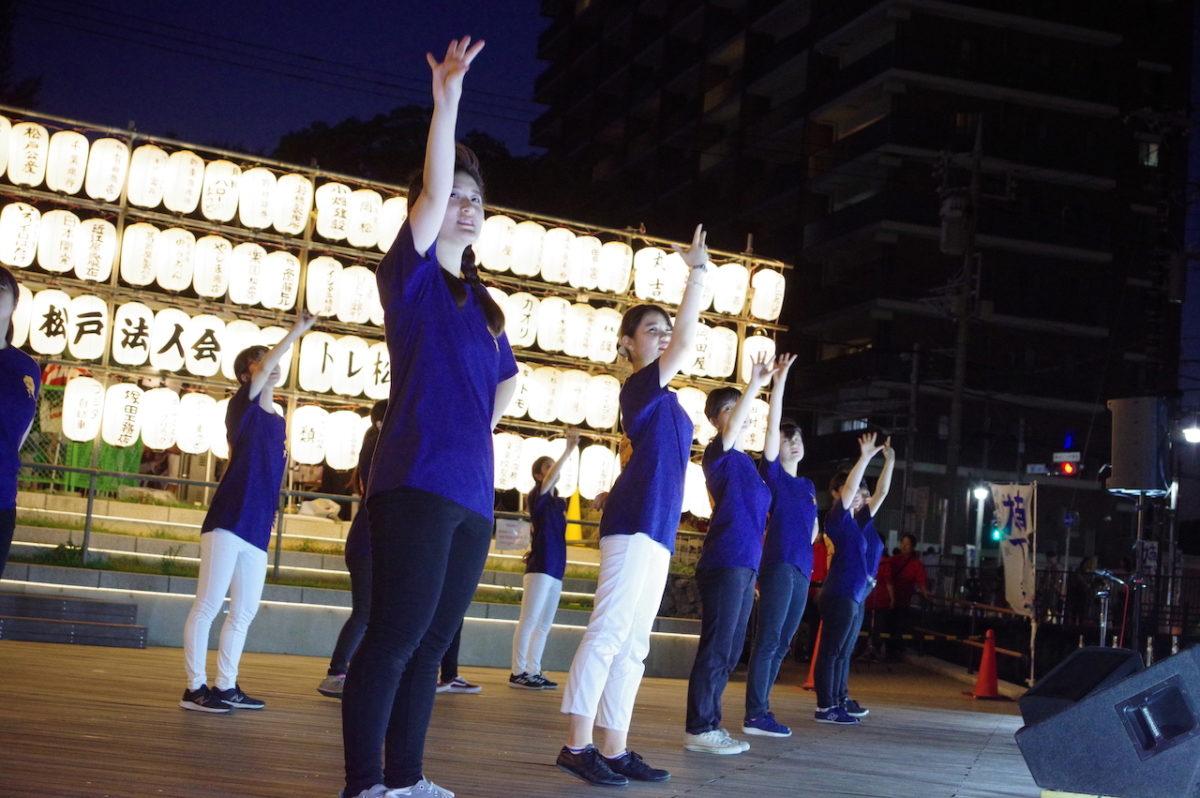 松戸宿坂川献灯まつりのステージに出演!