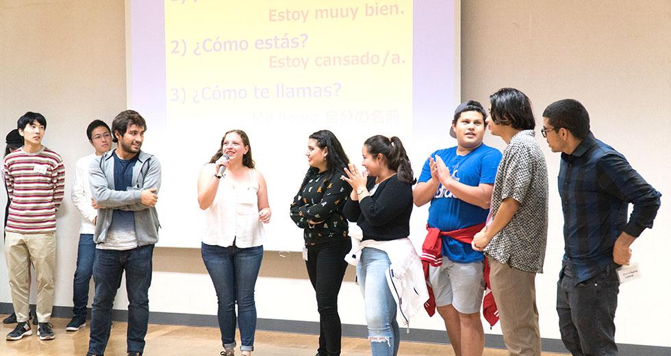短大生がスペイン語圏の留学生と交流