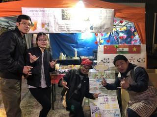 本学の留学生が「アクア・チッタフェスタ2019」でブース出店しました