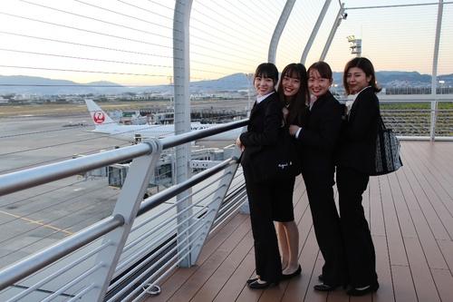 観光学科が大阪国際空港で「運輸業実務学外授業」を実施