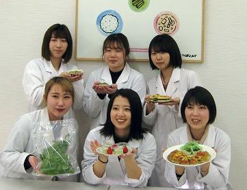 【食物栄養学科】「食べられる茶葉」の料理レシピ発表・試食会を行いました 2/27