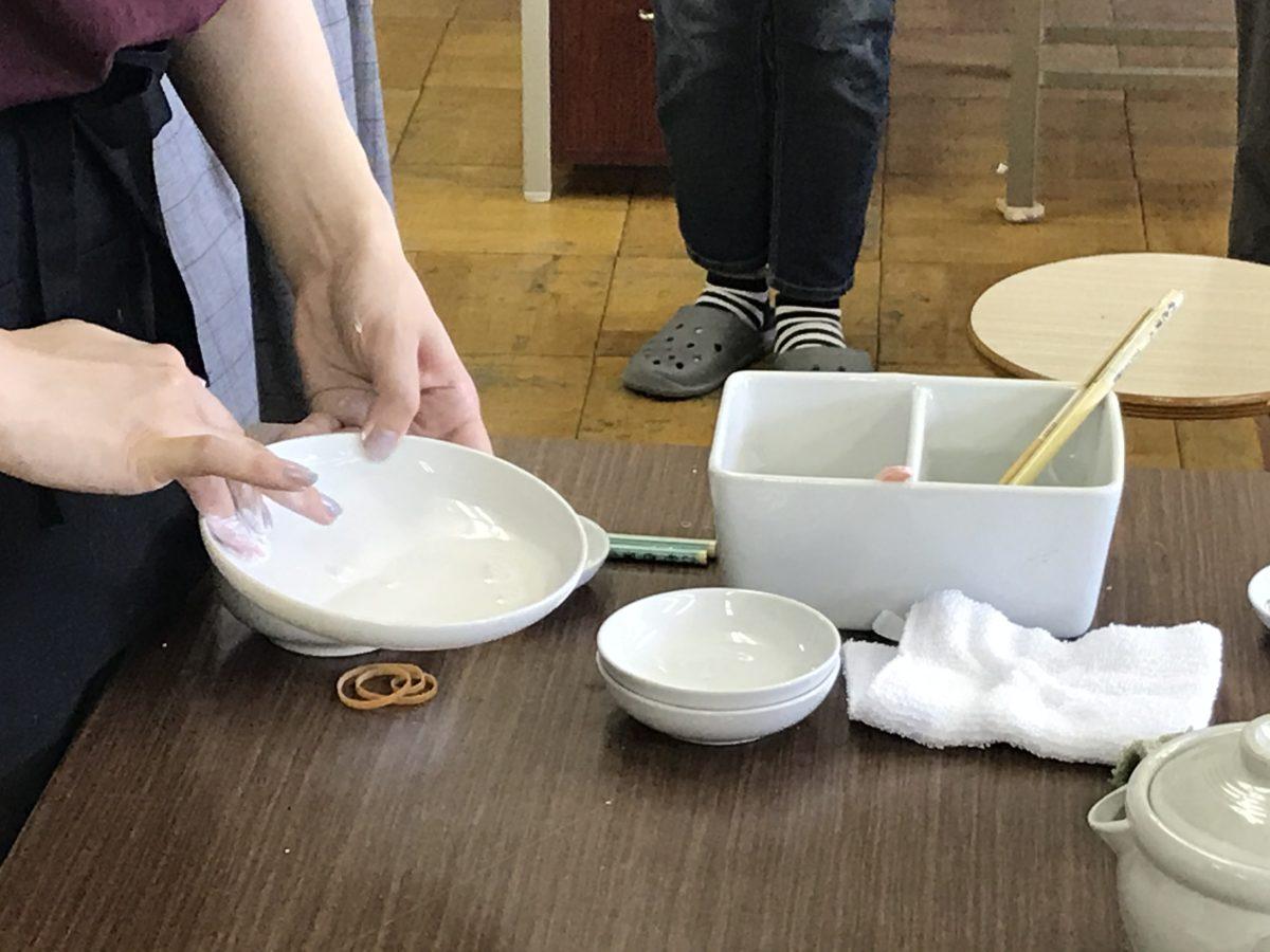 日本画の授業