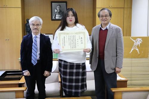 日本情報処理検定協会の『会長賞』を受賞(^^♪