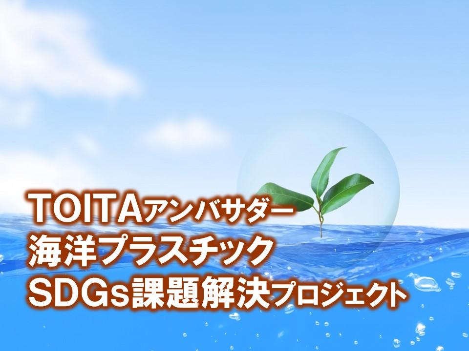 TOITAアンバサダー 海洋プラスチック SDGs課題解決プロジェクトが始まりました。