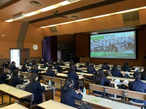 長浜農業高校の皆さんが見学に来られました