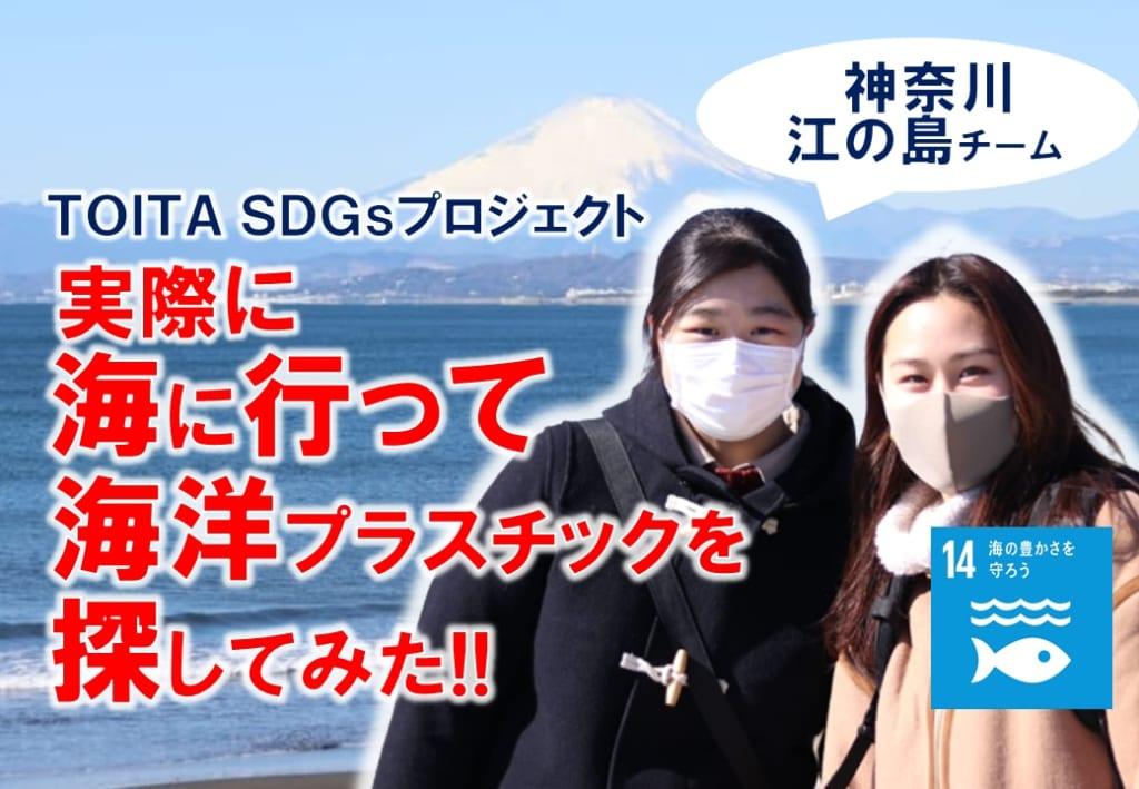 TOITA アンバサダー 海洋プラスチック現地調査~神奈川県 江の島チーム編~