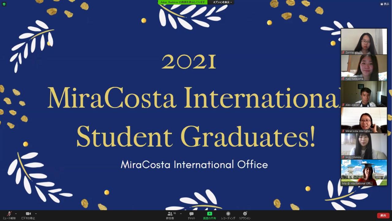 短大ダブル・ディグリー留学 米国ミラコスタカレッジへの派遣1期生が卒業